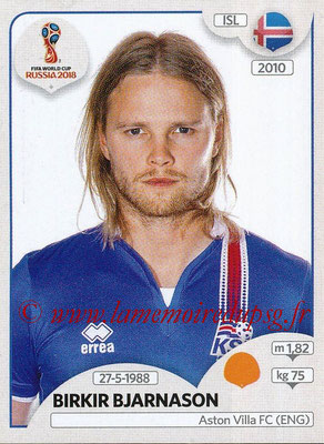 2018 - Panini FIFA World Cup Russia Stickers - N° 302 - Birkir BJARNASON (Islande)