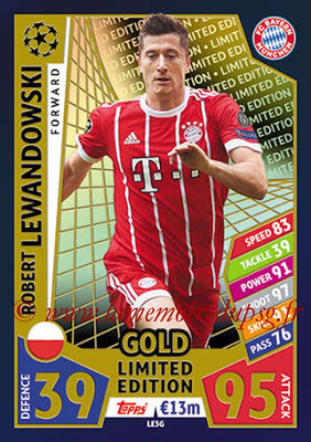 2017-18 - Topps UEFA Champions League Match Attax - N° LE3G - Robert LEWANDOWSKI (FC Bayern Munich) (Limited Edition Gold)