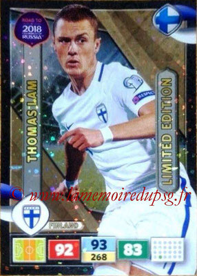 2018 - Panini Road to FIFA World Cup Russia Adrenalyn XL - N° LE-TL - Thomas LAM (Finlande) (Limited Edition)