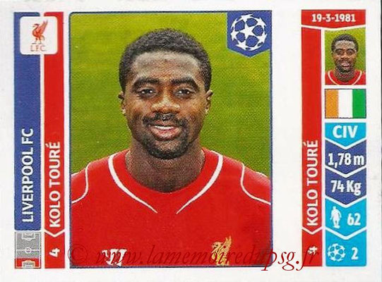 2014-15 - Panini Champions League N° 158 - Kolo TOURE (Liverpool FC)