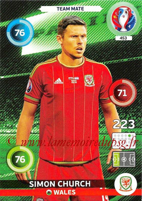 Panini Euro 2016 Cards - N° 453 - Simon CHURCH (Pays de Galles)