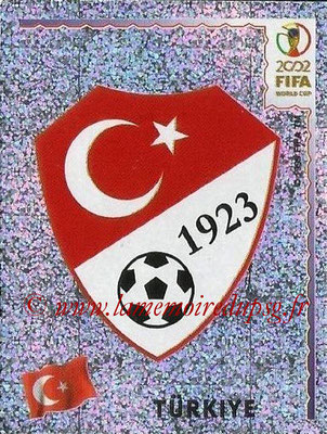 2002 - Panini FIFA World Cup Stickers - N° 188 - Logo Turquie