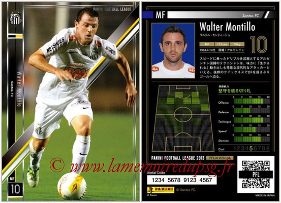 Panini Football League 2013 - PFL03 - N° 076 - Walter Montillo (FC Santos)