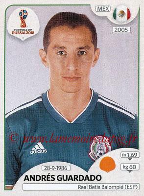 2018 - Panini FIFA World Cup Russia Stickers - N° 463 - Andrés GUARDADO (Mexique)