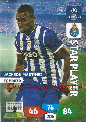 2013-14 - Adrenalyn XL champions League N° 225 - Jackson MARTINEZ (FC Porto) (Star Player)