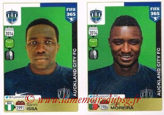 2015-16 - Panini FIFA 365 Stickers - N° 699-700 - Sanni ISSA + João MOREIRA (Auckland City FC)
