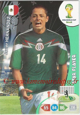 2014 - Panini FIFA World Cup Brazil Adrenalyn XL - N° 249 - Javier HERNANDEZ (Mexique) (Star Player)