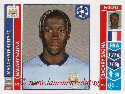 2014-15 - Panini Champions League N° 376 - Bacary SAGNA (Manchester City FC)