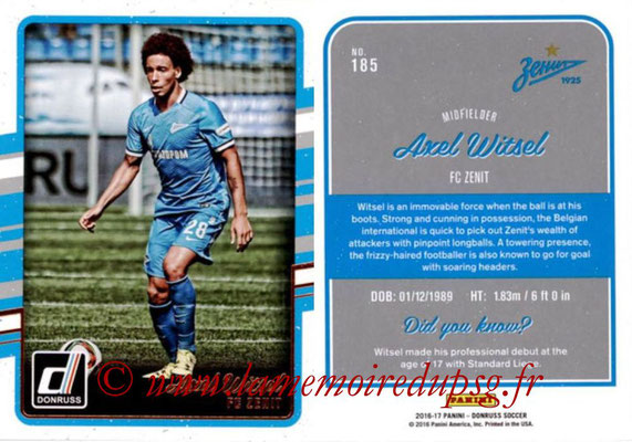 2016 - Panini Donruss Cards - N° 185 - Axel WITSEL (FC Zenit)