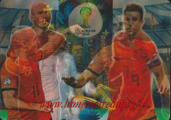 2014 - Panini FIFA World Cup Brazil Adrenalyn XL - N° 415 - Arjen ROBBEN & Robin VAN PERSIE (Pays-Bas) (Double trouble)