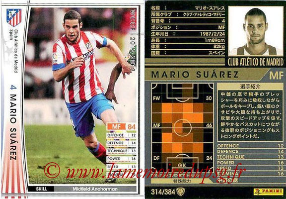 2012-13 - WCCF - N° 314 - Mario SUAREZ (Atletico  Madrid)