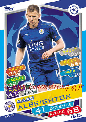 2016-17 - Topps UEFA Champions League Match Attax - N° LEI10 - Marc ALBRIGHTON (Leicester City FC)