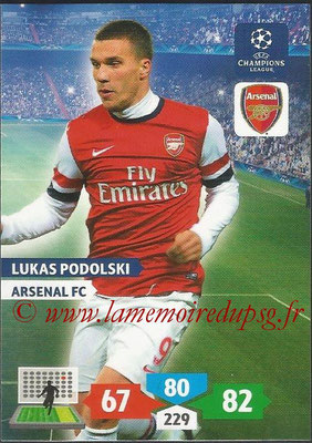 2013-14 - Adrenalyn XL champions League N° 054 - Lukas PODOLSKI (Arsenal FC)