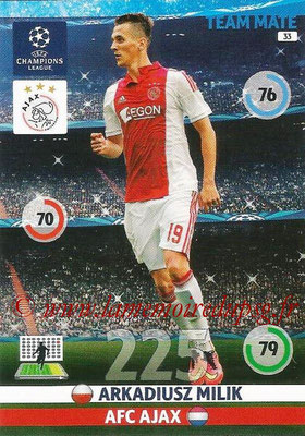 2014-15 - Adrenalyn XL champions League N° 033 - Arkadiusz MILIK (AFC Ajax)