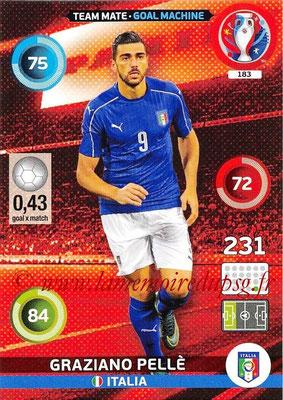 Panini Euro 2016 Cards - N° 183 - Graziano PELLE (Italie) (Goal Machine)