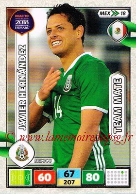 2018 - Panini Road to FIFA World Cup Russia Adrenalyn XL - N° MEX18 - Javier HERNANDEZ (Mexique)