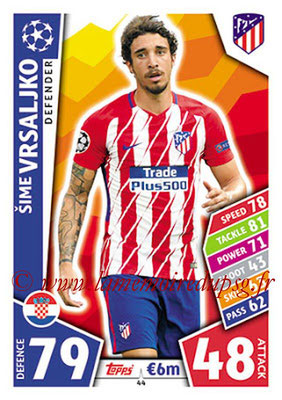2017-18 - Topps UEFA Champions League Match Attax - N° 044 - Sime VRSALJKO (Club Atletico de Madrid)