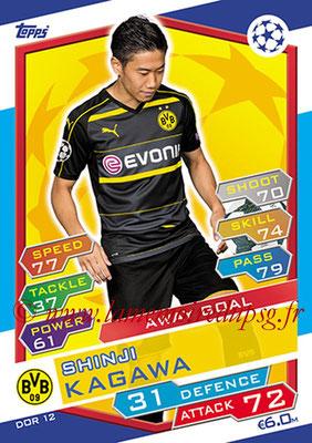2016-17 - Topps UEFA Champions League Match Attax - N° DOR12 - Shinji KAGAWA (Borussia Dortmund) (Away Goal)