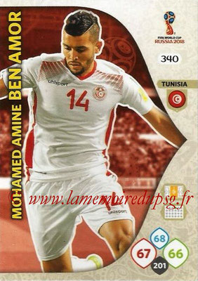 2018 - Panini FIFA World Cup Russia Adrenalyn XL - N° 340 - Mohamed Amine BEN AMOR (Tunisie)