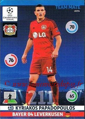 2014-15 - Adrenalyn XL champions League Update edition N° UE034 - Kyriakos PAPADOPOULOS (Bayer Leverkusen)