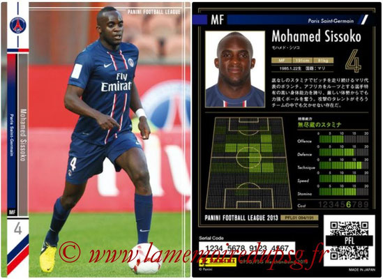 Panini Football League 2013 - PFL01 - N° 094 - Mohamed Sissoko ( Paris Saint-Germain )