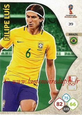 2018 - Panini FIFA World Cup Russia Adrenalyn XL - N° 039 - Filipe LUIS (Brésil)