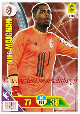 2017-18 - Panini Adrenalyn XL Ligue 1 - N° 120 - Mike MAIGNAN (Lille)