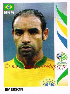 2006 - Panini FIFA World Cup Germany Stickers - N° 387 - EMERSON (Brésil)
