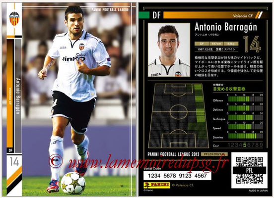 Panini Football League 2013 - PFL03 - N° 050 - Antonio Barragan (FC Valence)