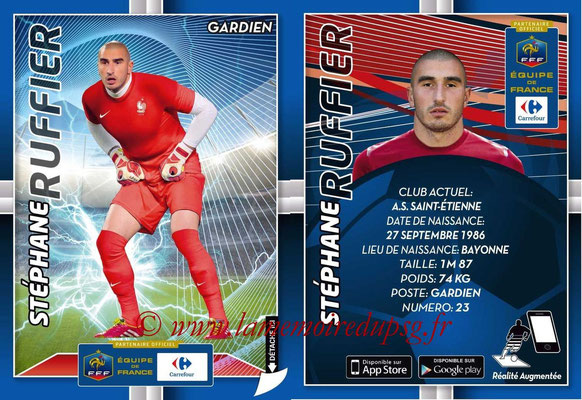 WC 2014 Collection Carrefour 3D Bleus - N° 03 - Stephane RUFFIER (Saint-Etienne)
