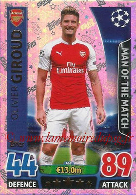 2015-16 - Topps UEFA Champions League Match Attax - N° 469 - Olivier GIROUD (Arsenal FC) (Man of the Match)