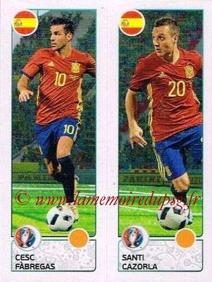 Panini Euro 2016 Stickers - N° 377 - Cesc FABREGAS + Santi CAZORLA (Espagne)