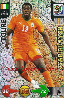 2010 - Panini FIFA World Cup South Africa Adrenalyn XL - N° 075 - Yaya TOURE (Côte d'Ivoire) (Star Player)
