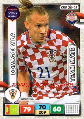2018 - Panini Road to FIFA World Cup Russia Adrenalyn XL - N° CRO03 - Domagoj VIDA (Croatie)