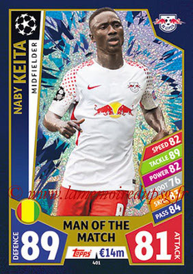 2017-18 - Topps UEFA Champions League Match Attax - N° 401 - Naby KEITA (RB Leipzig) (Man Of the Match)
