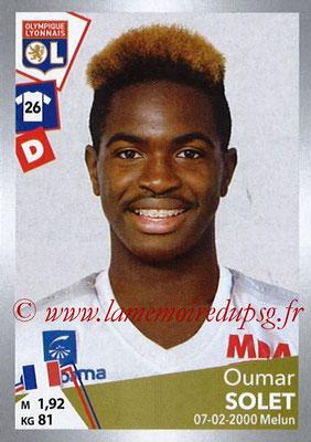2017-18 - Panini Ligue 1 Stickers - N° T18 - Oumar SOLET (Lyon) (Transfert)