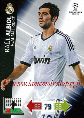 2012-13 - Adrenalyn XL champions League N° 220 - Raoul ALBIOL (Real Madrid CF)