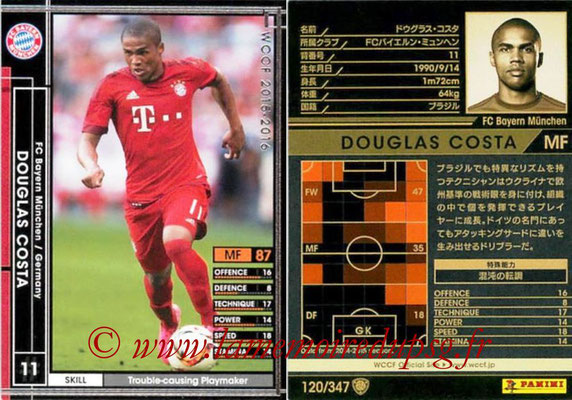 2015-16 - Panini WCCF - N° 120 - Douglas COSTA (FC Bayern Munich)