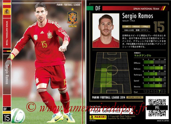 Panini Football League 2014 - PFL08 - N° 112 - Sergio RAMOS (Espagne)