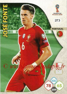 2018 - Panini FIFA World Cup Russia Adrenalyn XL - N° 273 - José FONTE (Portugal)