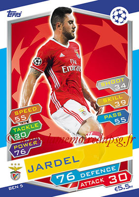 2016-17 - Topps UEFA Champions League Match Attax - N° BEN5 - JARDEL (SL Benfica)