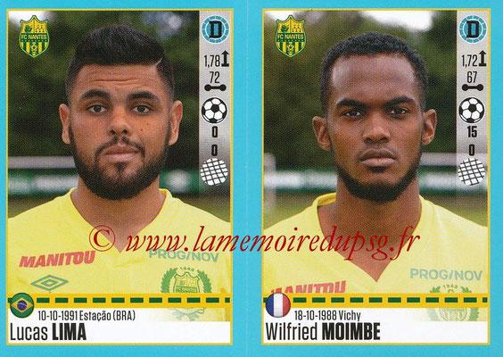 2016-17 - Panini Ligue 1 Stickers - N° 614 + 615 - Lucas LIMA + Wilfried MOIMBE (Nantes)