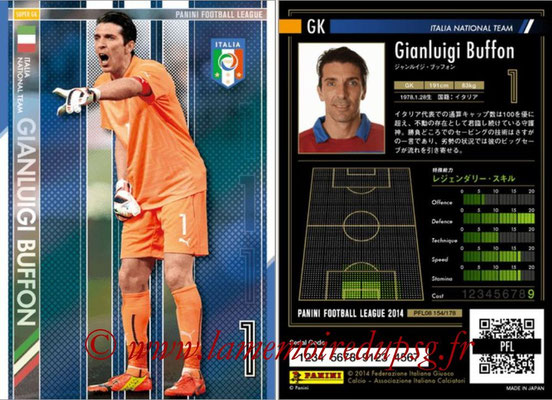 Panini Football League 2014 - PFL08 - N° 154 - Gianluigi BUFFON (Italie) (Super GK)
