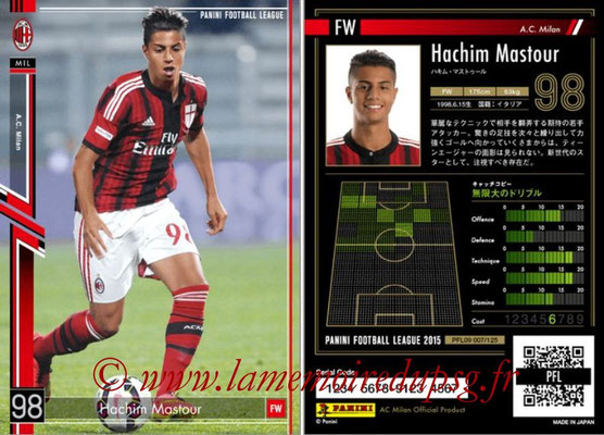 Panini Football League 2015 - PFL09 - N° 007 - Hachim MASTOUR (Milan AC)