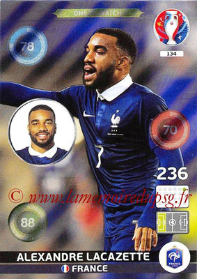 Panini Euro 2016 Cards - N° 134 - Alexandre LACAZETTE (France) (One To Watch)