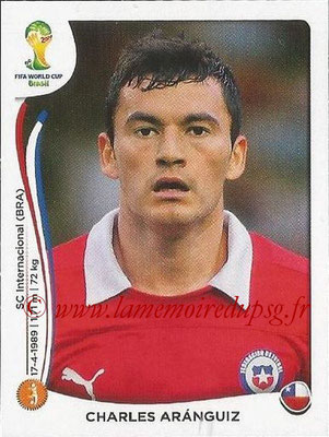 2014 - Panini FIFA World Cup Brazil Stickers - N° 161 - Charles ARANGUIZ (Chili)