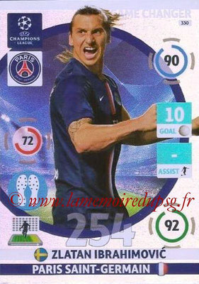 2014-15 - Adrenalyn XL champions League N° 330 - Zlatan IBRAHIMOVIC (Paris Saint-Germain) (Game changer)