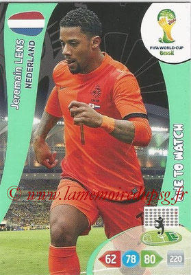 2014 - Panini FIFA World Cup Brazil Adrenalyn XL - N° 261 - Jeremain LENS (Pays-Bas) (One to watch)