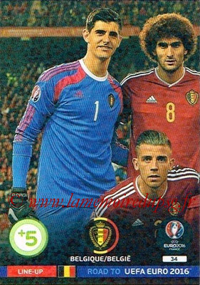 Panini Road to Euro 2016 Cards - N° 034 - Equipe Belgique 1