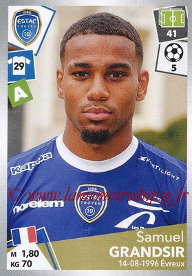 2017-18 - Panini Ligue 1 Stickers - N° 512 - Samuel GRANDSIR (Troyes)